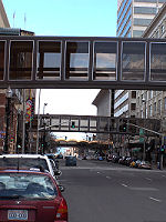 Picture of the Spokane, WA skywalk system progress.